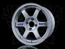 NEW GENUINE RAYS VOLK RACING TE37 FORGED WHEELS 15X8 4X100 +35 TITANIUM SILVER