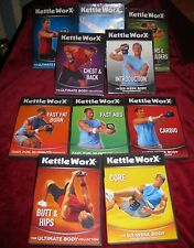 KettleWorX Workout DVDs 10 Discs 5 New Exercise Cardio Fitness Core LOT