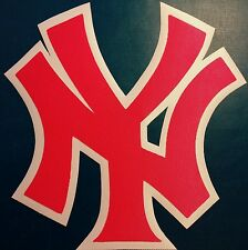 "HUGE PINK NEW YORK YANKEES IRON-ON PATCH - 8"" x 8"""