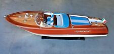 "RIVA AQUARAMA BOAT 35"" (90cm) Wood Model Detailed Italy"