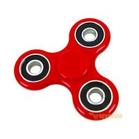 Red Hand Spinner Fidget Toy Anxiety Stress Relief Focus EDC Tri Spinner ADHD