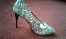 LADIES POINTED TOE, SUEDETTE, STUDDED SHOES, SIZE 6 UK, 39, NEW IN BOX