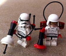 2 Original Lego Star Wars Stormtroopers-Ultrasonido Unidad-Piezas de 75165 y