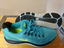 Nike lunarglide 4 Mens Size 11 worn maybe twice, With A Box. Aqua/Black/Yellow