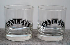 2 NEW BAILEYS IRISH CREAM COCKTAIL GLASSES BLACK LOGO 6 OZ