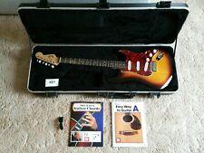 Fender Squier Stratocaster Electric Guitar Brown Sunburst + Fur Hard Case Bundle