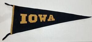 University of Iowa Hawkeyes Vintage Pennant 1950s(?) Full Size