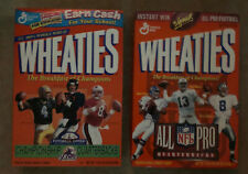 2 All Pro Quarterbacks Wheaties Boxes -Marino/Elway/Aikman/Favre/Young