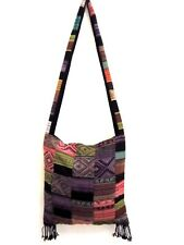 PW 01 VINTAGE PATCHWORK SLING BAG HIPPIE HOBO UNISEX SQUARE CROSS BODY BOHO LADY