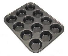 Yorkshire pudding Bandeja. 12 Taza. 6 cm de diámetro Muffins. de acero al carbono. Antiadherente.