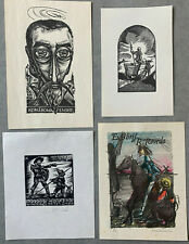 Don Quixote Quichote Quijote 4 exlibris Bookplates Lot #3