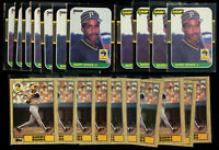 21 Lot- 1987 Barry Bonds Rookie w Donruss #361 Leaf  #219 and Topps #320 RC