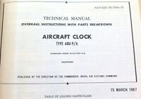 .RARE 1967 WAKMANN MILITARY AIRCRAFT CLOCK MODEL W-33-7590-10A MANUAL