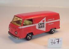 Majorette 1/60 Nr. 244 VW Volkswagen T2 Fourgon Kasten rot Cafe Hag Nr. 2 #767