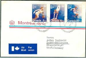 Canada Olympic Games Montreal 1976 set on cover with first day cover 7.I.76