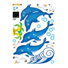 Dolphin Fish Ocean Nursery Wall Stickers Kids Room Decals Removable Vinyl Art
