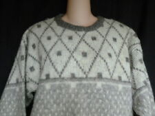 Vintage Alafoss Icelandic Knit Pullover Sweater Nordic Sz S