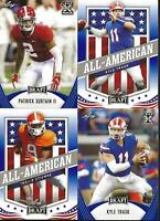 2021 Leaf Draft Football Blue Variant **Complete Your Set** -  U Pick