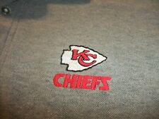 Kansas City Chiefs NFL Embellished Gray Long Sleeved Polo Shirt Men's Size M