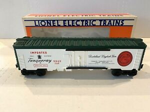 NEW 1985 LIONEL ELECTRIC TRAINS -TANQUERAY GIN REEFER BOXCAR- O-SCALE 6-9843 NIB