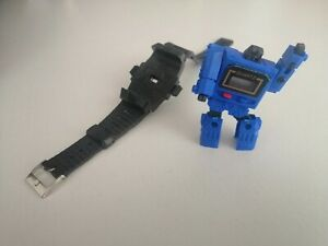 Reloj de Cuarzo 1980s sin marca TAKARA-como Kronoform Transformers Azul Nuevo