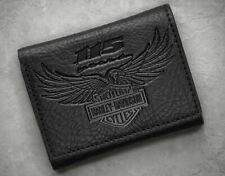 Harley-Davidson® Men's 115th Anniversary Tri-Fold Wallet, Black 99414-18VM