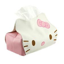 HelloKitty Faux Leather Home Bathroom Car Tissue Box Paper Holder Organizer Case