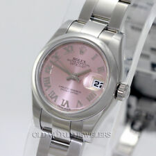 Rolex Lady Datejust 179160 Pink Roman Dial Stainless Steel Oyster Bracelet Box