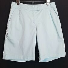 Nike Golf womens shorts size 6 blue fit dry cotton blend long bermuda