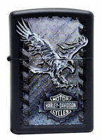 Zippo Harley Davidson Black Matte LIghter, Iron Eagle, #  28485, New In Box