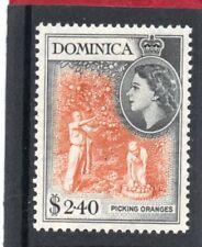Dominica QE2 1954 $2.40 yellow-orange & black sg 158 H.Mint
