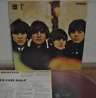 The Beatles For Sale Japan LP Red Vinyl Toshiba EAS-70133 MONO Insert