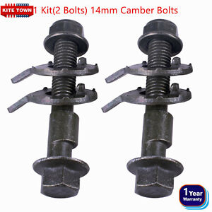 2 BOLTS FRONT LEFT & RIGHT CAMBER ALIGNMENT 14MM ADJUSTABLE CAM BOLTS KIT