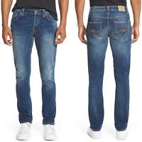 Nudie Herren Slim Fit Stretch Jeans Hose | Grim Tim |Organic Bay Blue