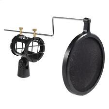 Microphone Shock Mount stand holder w/ Pop Filter Shockmount Universal Kit New