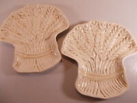 Lot Of 2 Blackhawk Marketing Victoria Dinner Serving Plates Embossed With Wheat