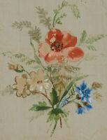 Kleines Blumenbouquet mit Mohnblume, 19. Jhd., Gouache