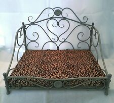 MANOR Classy Pet Bed  Grey Metal Frame bed, Quality petbed .