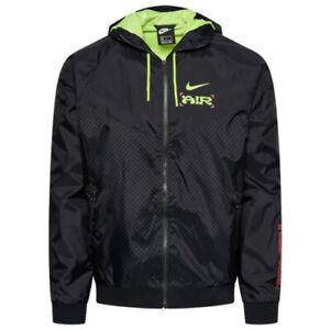 "Nike ""Catch Air"" Windbreaker Jacket Men's Full Zip Black Green Red CW4708-010"