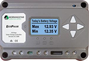 Morningstar EcoPulse PWM Solar Regulator/Controller, 12/24V, 30A with Digital Di