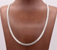 4.5mm Diamond Cut Bismark Bizmark Chain Necklace Real Sterling Silver 925 Italy