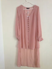 LADAKH 'CONFESSOR CAPE' DRESS TOP BNWOT IN BLUSH RRP $79.95 SZ 10 (e50)