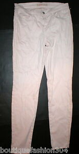 New $195 J Brand Jeans Super Skinny Nude Mid Womens Pale Pink Pastel Romantic 30