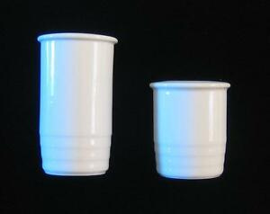 TRIO WHITE THOMAS ROSENTHAL CHINA Salt and Pepper New Old Stock