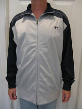 NORDIC TRACK MENS SILVER AND NAVY BLUE  WARM-UP JACKET SIZE L