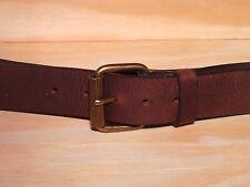 Matt Latón Clásico Jean Cuero 1 1/2 Pulgadas Rodillo Cinturón Cintura Tamaño Diseñador Ajuste