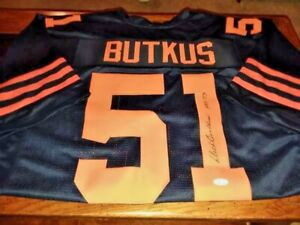 DICK BUTKUS Signed Jersey with JSA COA