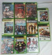 Xbox Game Bundle x11 - Untested - PAL - Halo 2, Fifa , Mercenaries , The Sims