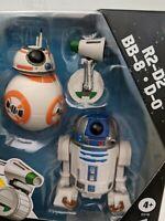 Star Wars The Rise Of Skywalker R2-D2 BB-8 D-0 3 Small Robot Figures Set - NEW