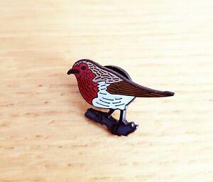 ROBIN GARDEN BIRD ENAMEL PIN BADGE